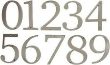 "Satin Nickel Solid Flush Mount 5"" House Numbers (0 thru 9 available) Warwick"