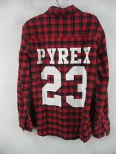 Scotland Plaid Shirt Checked Shirt Hip Hop RAP Style Mens Pyrex 23 Fashion Tee