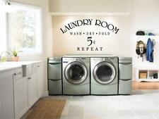 Huge Laundry Room 5 Cents Wall Decal Sticker Decoration Washer Dryer