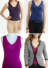 NWT Banana Republic New $29.50 Women Luxe-touch Lace-trim Tank Size XS,M,L