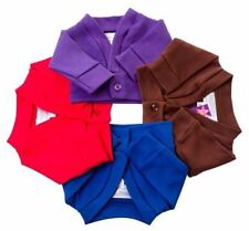 DESIGN A FRIEND DOLL SCHOOL CARDIGAN  FROM FRILLY LILY  LOTS OF COLOURS!