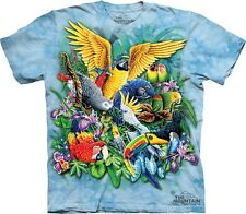 Birds Of The Tropics T-Shirt by The Mountain. Colorful Picture Sizes S-5XL NEW