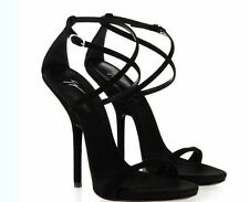 black Womens Sexy Gladiator Ankle Strappy Sandal High Heel Stiletto Strap Shoes