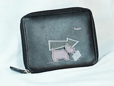 New RADLEY London Women's Black Leather All-around Zip Purse Window Pockets BNWT