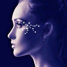 Addttoo  Waterproof Temporary Tattoos Face Body Art  Black Gold or Silver Stars