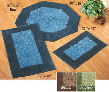Frisse Two Tone Area Throw Rugs
