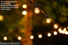 10 Piece Clear Festoon Party String Light Kit - Globes Included!