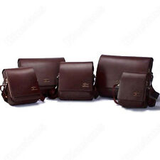 Men's Kangaroo Faux Leather Shoulder Messenger Bag Size S M L XL Black Brown