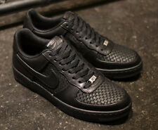 Nike Air Force 1 AF1 Downtown LTH QS Black Woven 573979-004 Rare Limited New