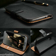 Genuine 100% Real Leather Wallet stand case cover for Motorola Moto G