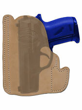 New Barsony Tan Leather Gun Pocket Holster SIG Walther Small Mini 22 25 380