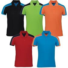 Mens Womens Dryfit Quick Dry Coolmax Golf Tennis Collar Polo Tshirts Top H