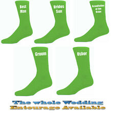 Green Mens Wedding Socks, Groom, Best Man, Usher