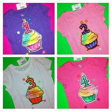~NEW~ 1st 2nd 3rd 4th BIRTHDAY Baby Girls Shirts 9-12 18 Months 2T 3T 4T 5T Gift