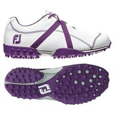New FootJoy Women's M Project Golf Shoes White/Purple 95622 - Choose your size!