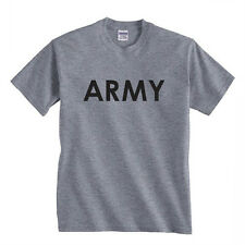 ARMY united states US Physical camo soldier star Training Tee GREY t-shirt
