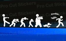 Zombies on the run funny Car Stickers Decals Graphics Walking Outbreak Dead