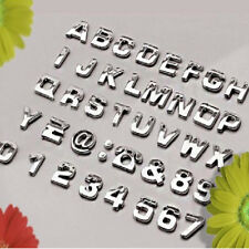 Chrome 3D Self-adhesive Letter Number Car Badge Emblelm Sticker Decal Home Auto