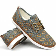 DVS Footwear Mens Rico CT Skate Shoes Grey/Orange Native Camo Canvas Trainers