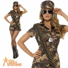 Adult Sexy Army Girl Costume Soldier Fancy Dress Military Uniform Womens Outfit