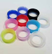 DOUBLE FLARE SILICONE FLESH TUNNEL SADLE EAR PLUG STRETCHER