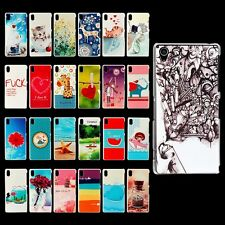 Colored Pattern Hard Cover Case Skin For Sony Xperia Z2 + Free Film