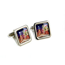 USA America New York Cityscape Skyline Cufflinks with Personalised Engraved Gift