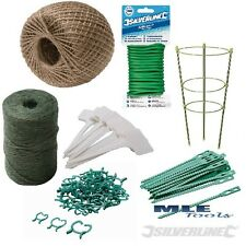Garden Plant Ties String Natural Twine Wire Adjustable Ring Support Marker Twist