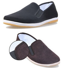 New Mens Driving Moccasins Flats Shoes Casual Man Slip on Loafers Cloth Tai Chi