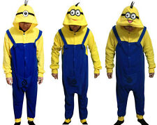 Despicable Me Cosplay Unisex Onepiece Minions Pajamas Costume Jumpsuit Hot Sale