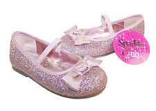 Infant girls pink special occasion ballerina shoes, ideal for parties & weddings