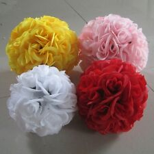 Wedding Party Home Decoration Colorful Silk Rose Pomander Flower Kissing Ball