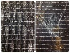 "1"" Black Ruffles with Metallic Foil/ Lamme Stretch Polyester Spandex Fabric"