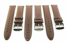 18-19-20-22-24MM LEATHER WATCH BAND STRAP SMOOTH FOR MOVADO L/BROWN #4