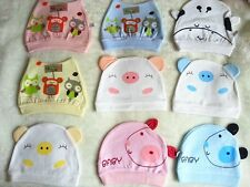 100% cotton newborn baby hat multi color