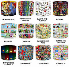 Children`s Old Comic Book Super Heroes Table Lamp Shades Or Ceiling Light Shades