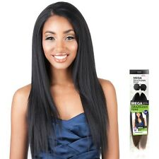 ISIS Mega Brazilian Remi Synthetic Yaky Bundle Hair Weave Extension 2Bundles 14""