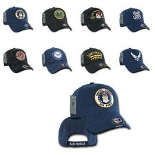 1 Dozen Shadow Embroidery US Military Vet Army Air Force Navy Marines Hats Caps