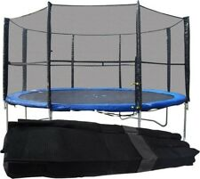 8FT 10FT 12FT REPLACEMENT 6 or 8 POLE TRAMPOLINE SAFETY NET ENCLOSURE SURROUND