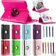 For Apple iPad Mini PU Leather 360 Rotating with Swivel Stand Case Smart Cover