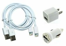 IOS 7.1 Cert- 2x cable 1xcar and 1x wall charger compatible with iPhone 5 5s lot