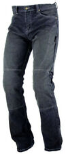 Ladies Womens Motorcycle Tight Fit Stretchy Denim Jeans With CE Armour Black