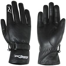 Motorbike Motorcycle Scooter Mens Black Soft Genuine Leather Touring Gloves
