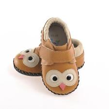 Boys or Girls Brown Leather First Walker Owl Shoes.  Caroch.