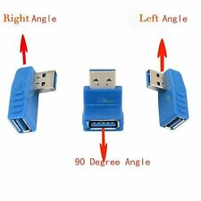 USB 3.0 A Male Plug To USB Female Left Right 90 Degree Angled Convertor Adapter