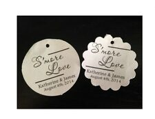 Wedding Favor Tags S'more Smore Love Personalized Gift Tag Buy 2 Get 1 Free