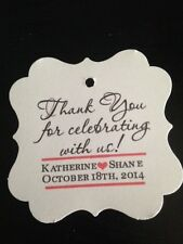 Wedding Favor Tags Thank You For Celebrating With Us Buy 2 Get 1 Square