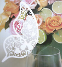 Butterfly Escort Place cards Wine Glass for Wedding Party for Table Decorations