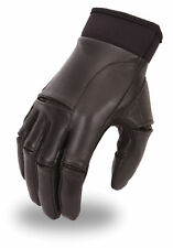 First MFG Men's Leather Gel Palm Cruiser Gloves w/ Perforated Knuckles FI131GEL
