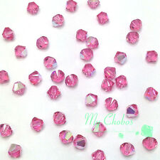 3mm Rose AB (209 AB) Swarovski crystal 5328 / 5301 Loose Bicone Beads